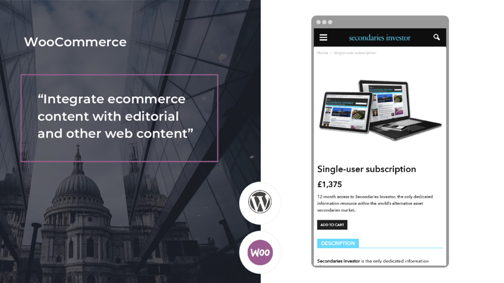"""""""Integrate ecommerce content with editorial and..."""