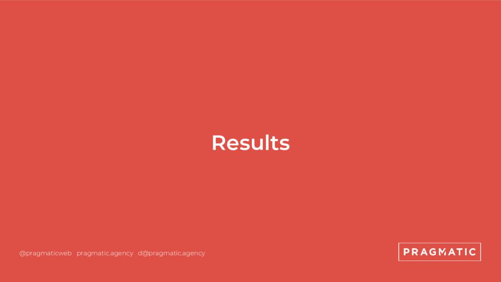Results @pragmaticweb pragmatic.agency d@pragma...