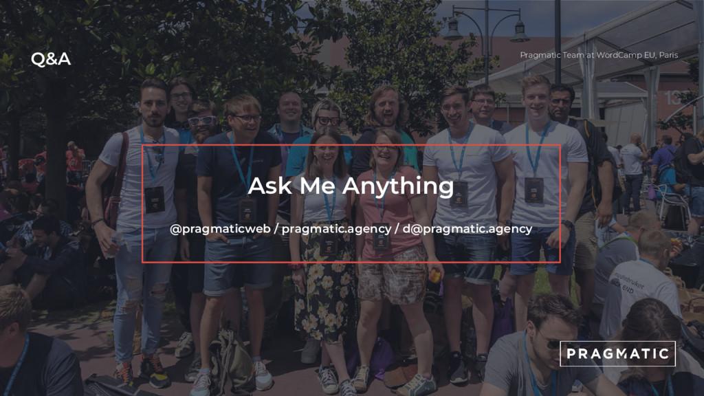 Q&A Pragmatic Team at WordCamp EU, Paris Ask Me...