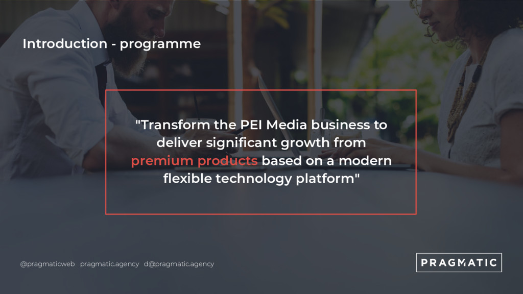 """Introduction - programme """"Transform the PEI Med..."""