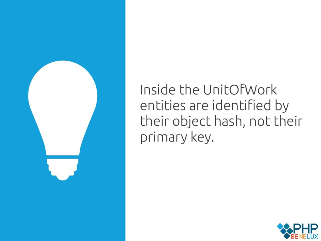 Inside the UnitOfWork entities are identified by...