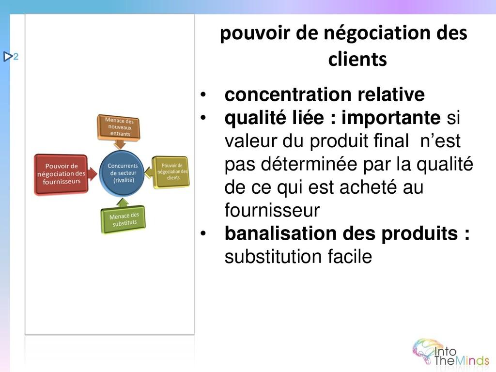 • concentration relative • qualité liée : impor...