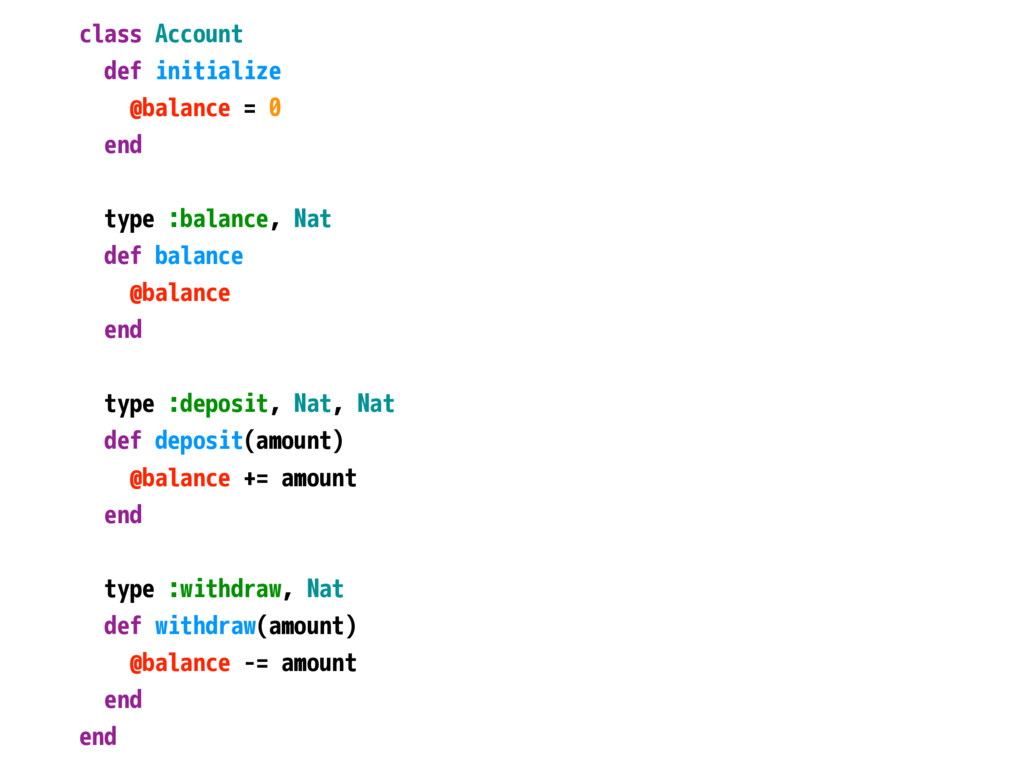class Account def initialize @balance = 0 end t...