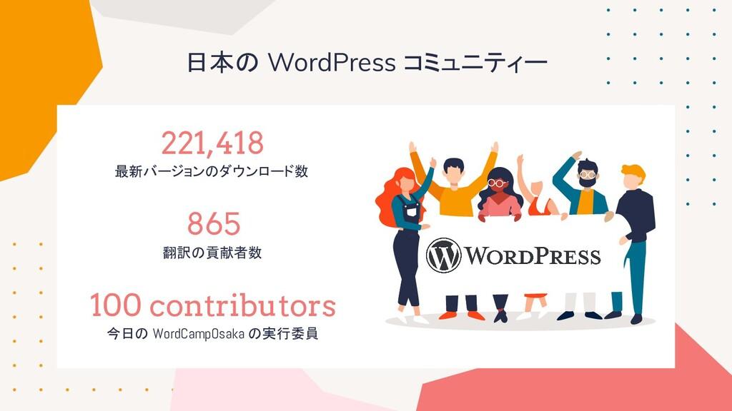 日本の WordPress コミュニティー 221,418 最新バージョンのダウンロード数 8...