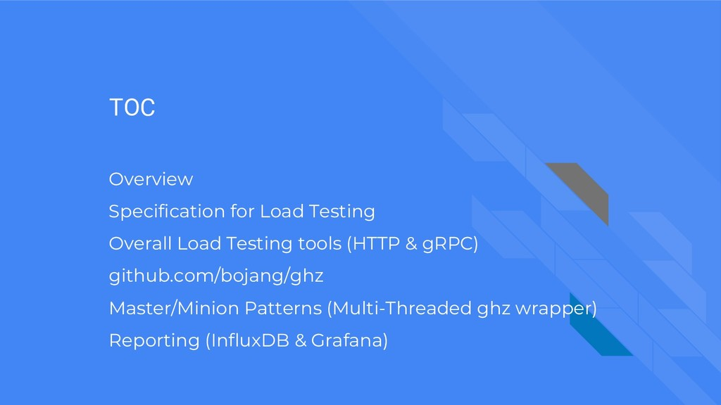 TOC Overview Specification for Load Testing Ove...