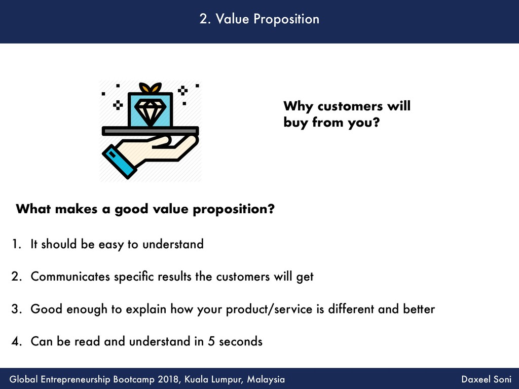 2. Value Proposition 1. It should be easy to un...