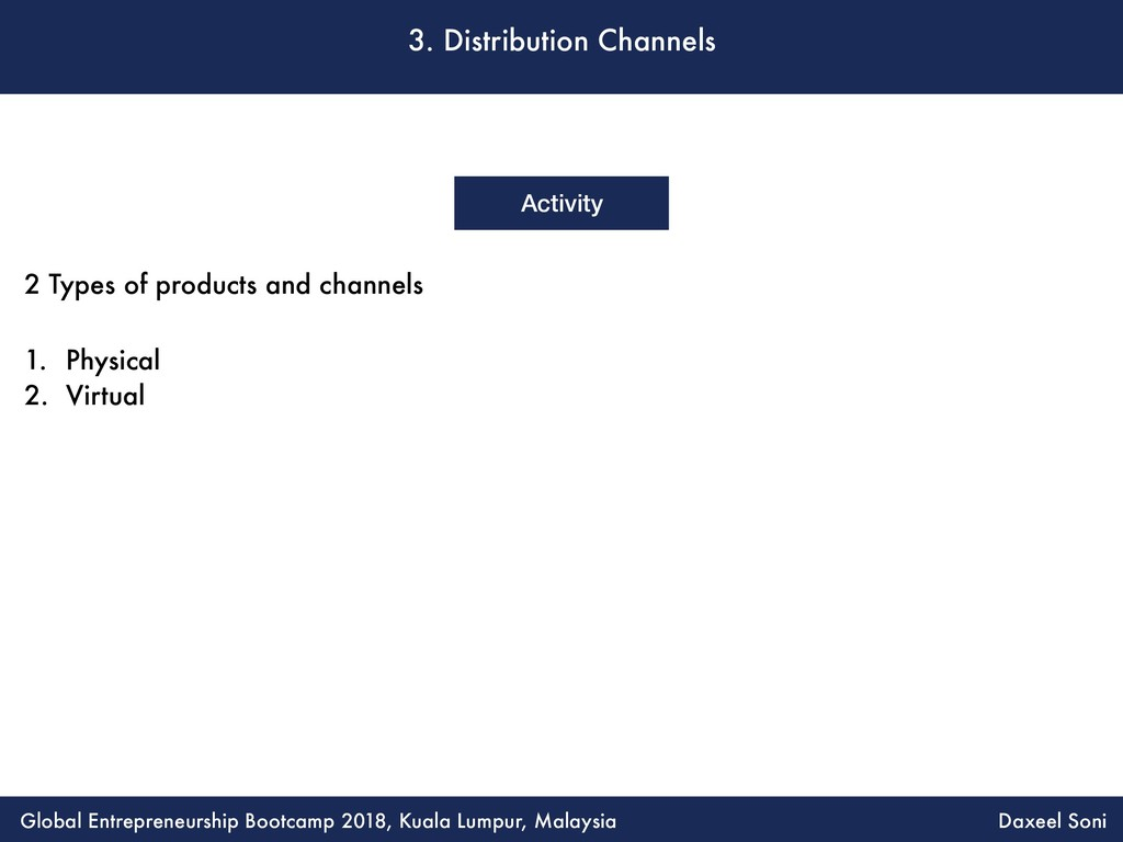 3. Distribution Channels Activity 2 Types of pr...