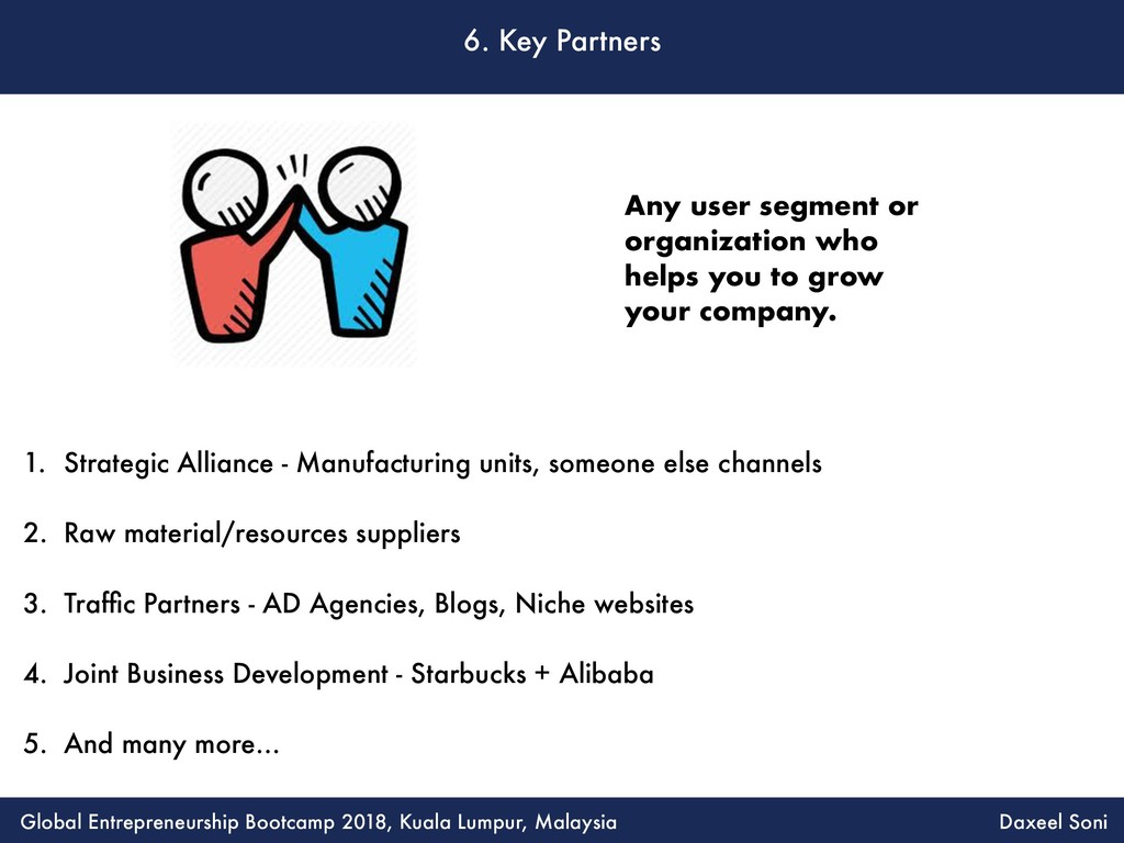 6. Key Partners 1. Strategic Alliance - Manufac...