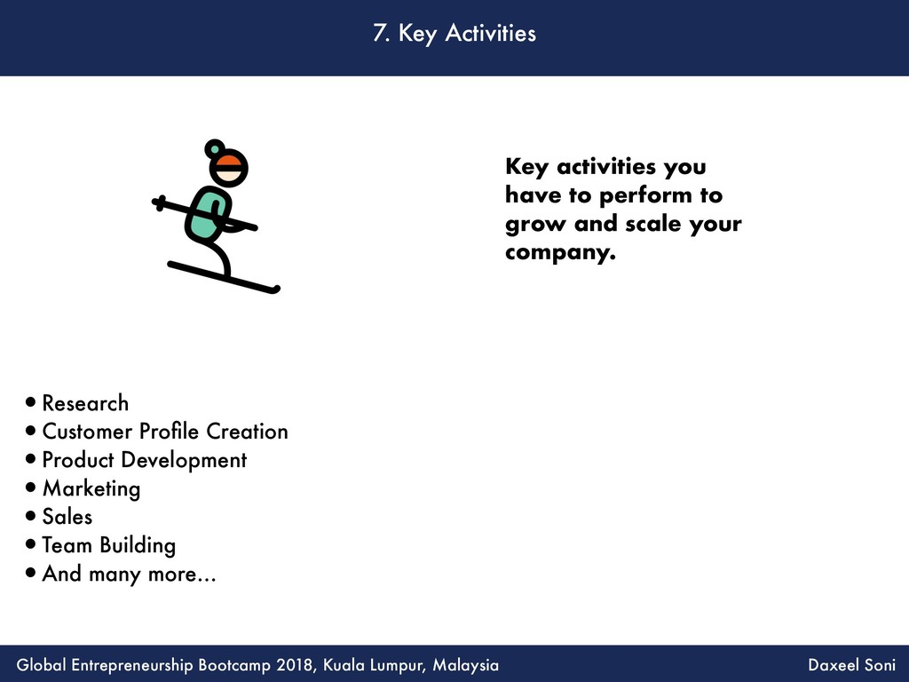 7. Key Activities •Research •Customer Profile Cr...
