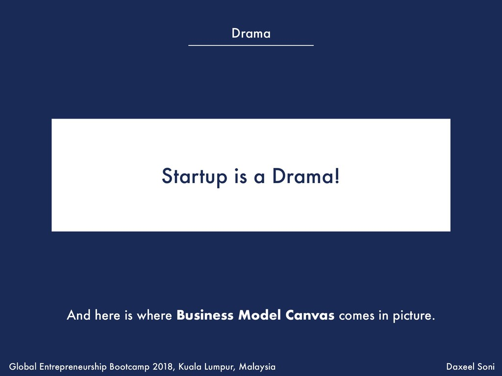 Startup is a Drama! And here is where Business ...