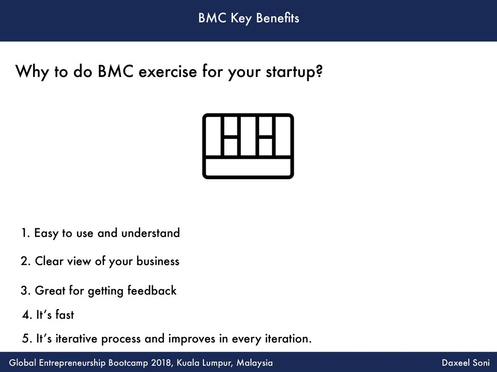 BMC Key Benefits 1. Easy to use and understand 2...