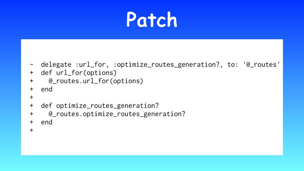 Patch - delegate :url_for, :optimize_routes_gen...