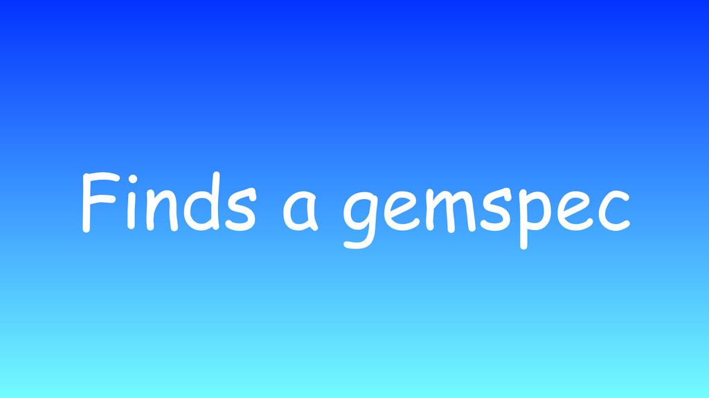 Finds a gemspec