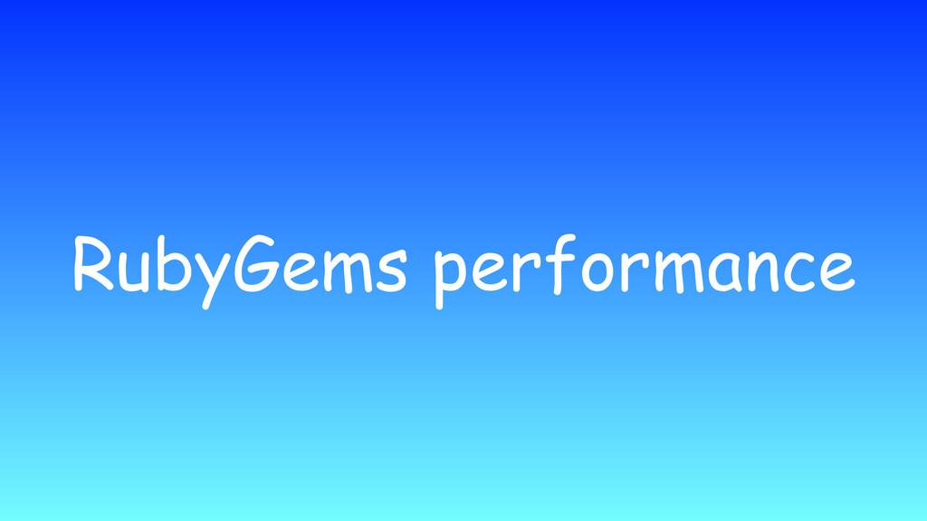 RubyGems performance
