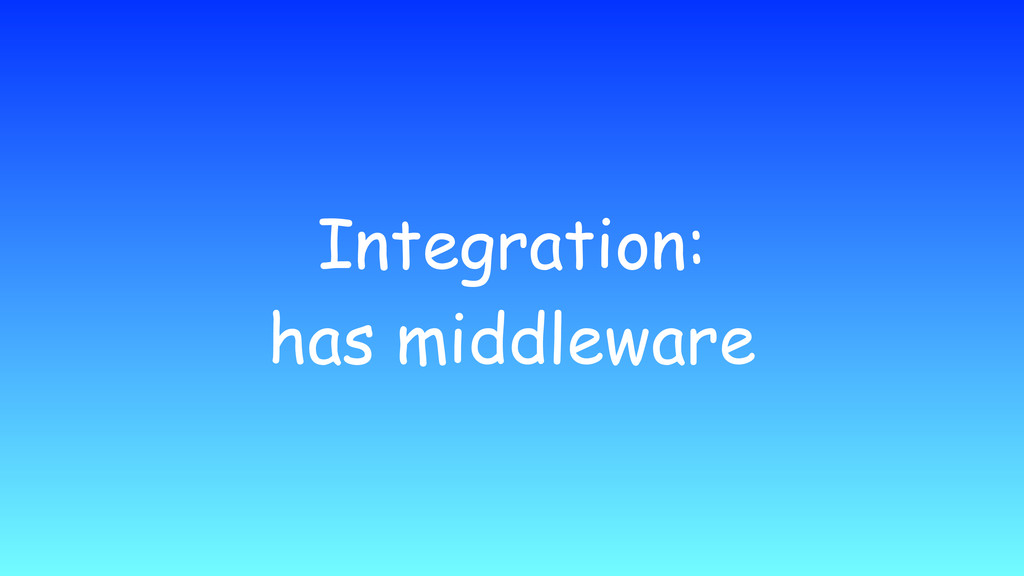 Integration: has middleware