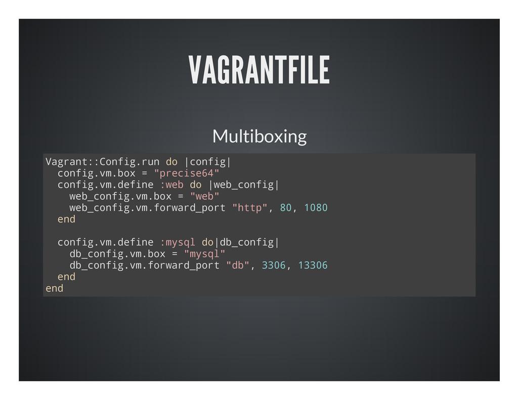VAGRANTFILE Multiboxing V a g r a n t : : C o n...