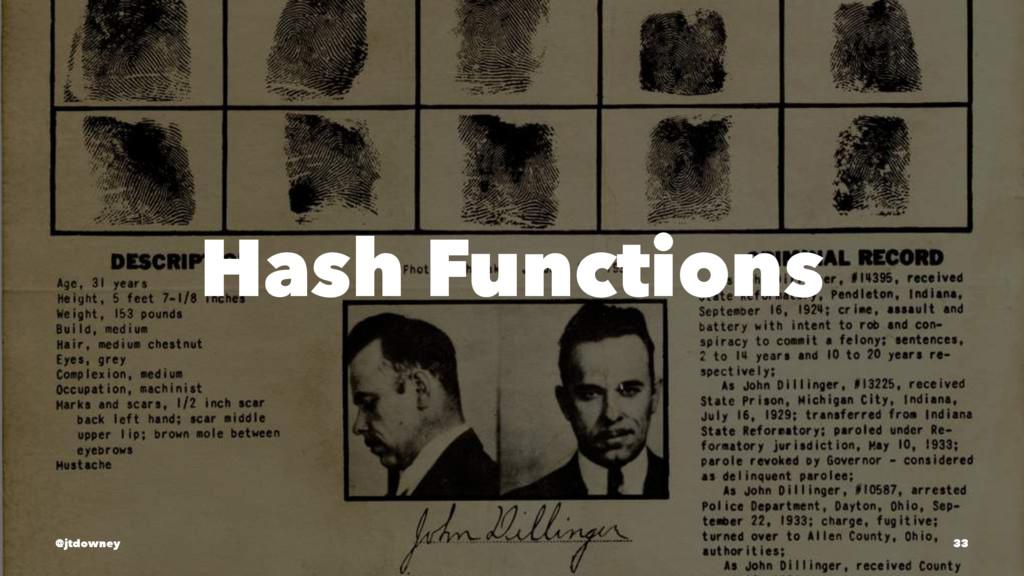 Hash Functions @jtdowney 33