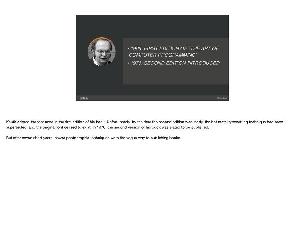 "@gjtorikian • 1969: FIRST EDITION OF ""THE ART O..."