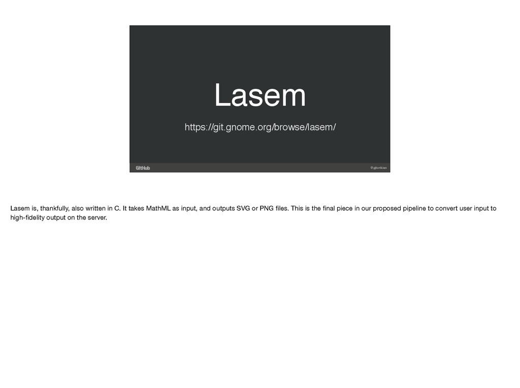 @gjtorikian Lasem https://git.gnome.org/browse/...