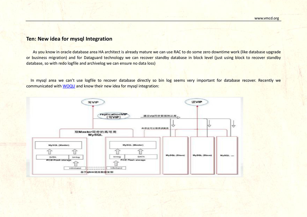 www.vmcd.org Ten: New idea for mysql Integratio...