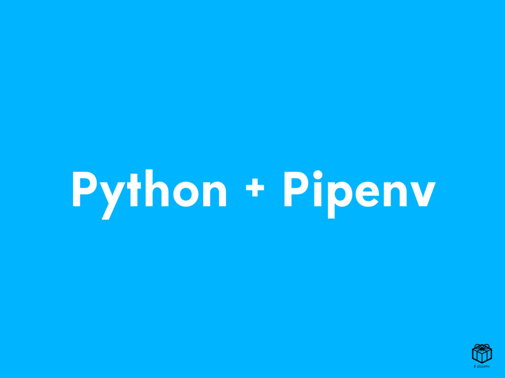 Python + Pipenv