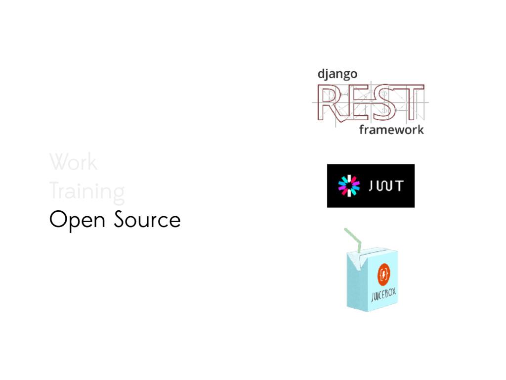 Work Training Open Source