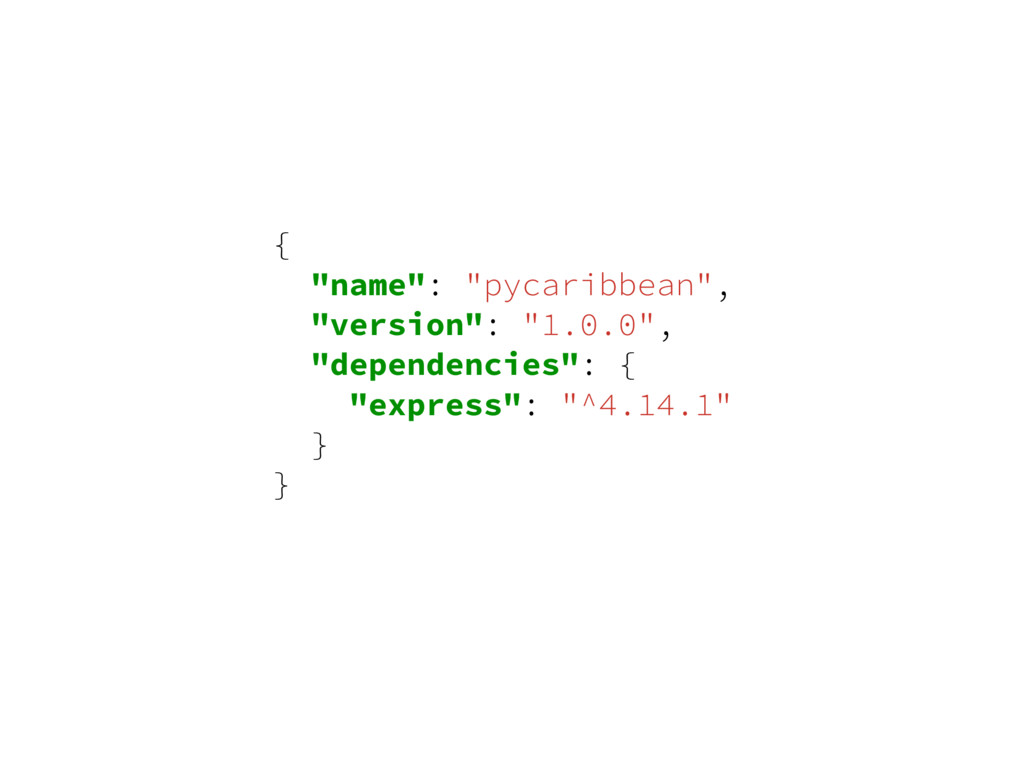 "{ ""name"": ""pycaribbean"", ""version"": ""1.0.0"", ""d..."