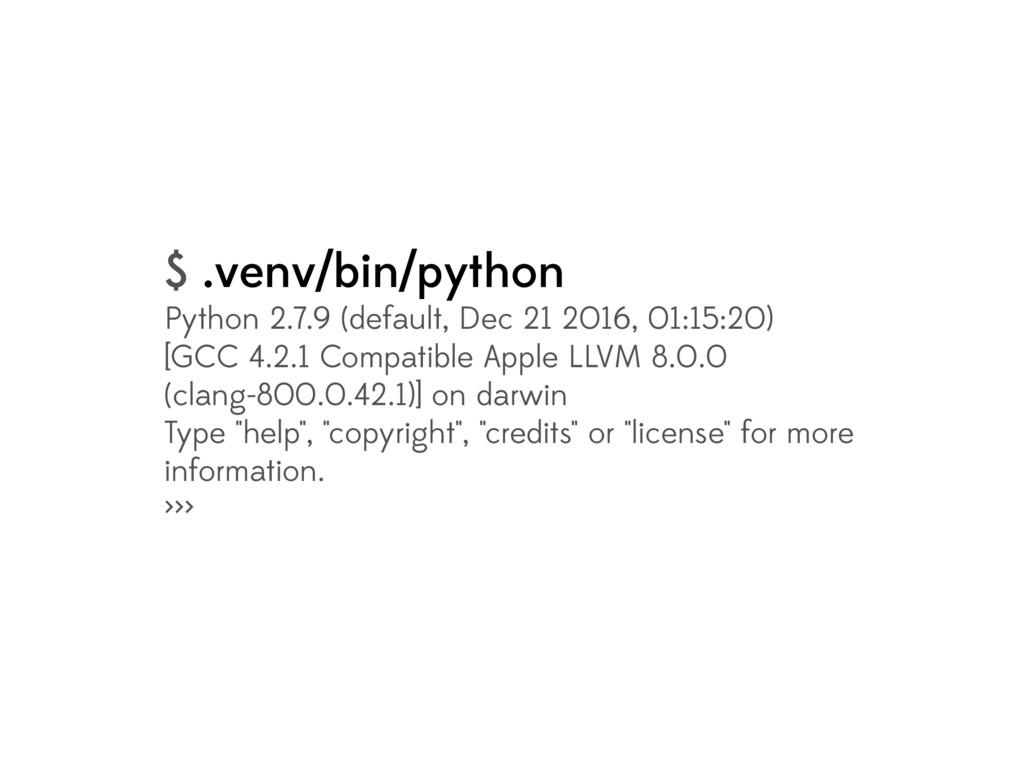$ .venv/bin/python Python 2.7.9 (default, Dec 2...