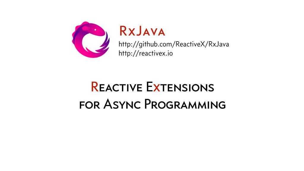 Reactive Extensions for Async Programming RxJav...