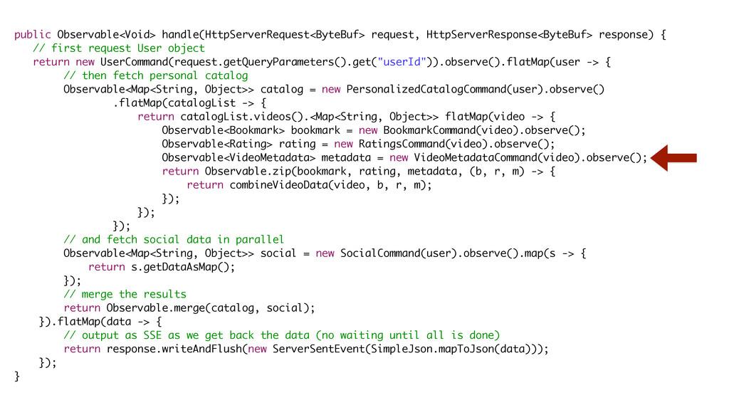 public Observable<Void> handle(HttpServerReques...