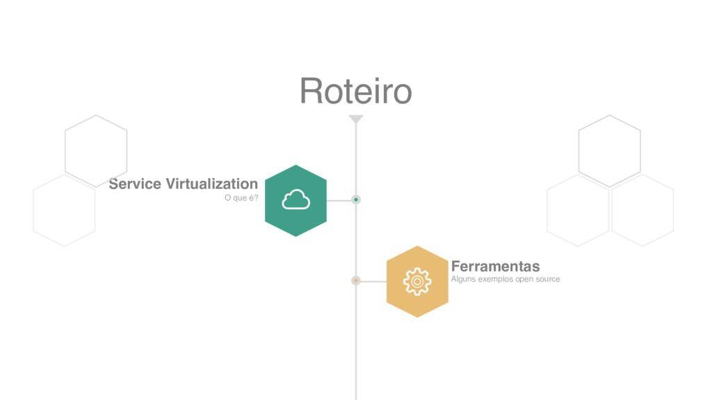 Roteiro Service Virtualization O que é? Ferrame...