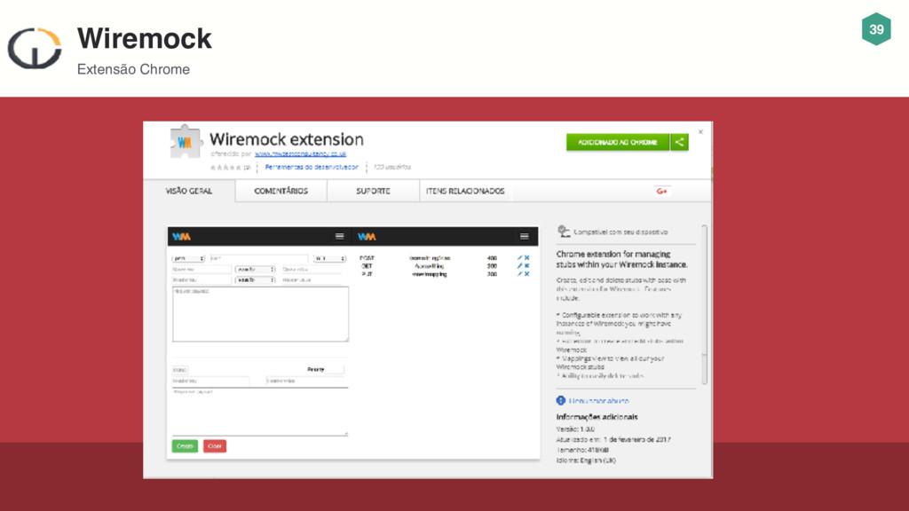 39 Wiremock Extensão Chrome