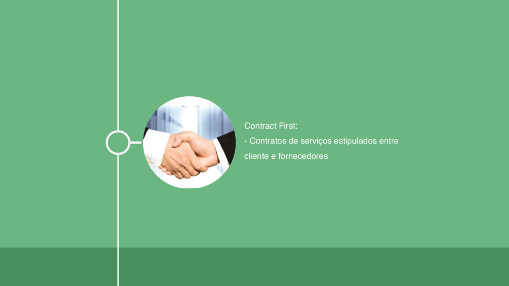 Contract First: - Contratos de serviços estipul...