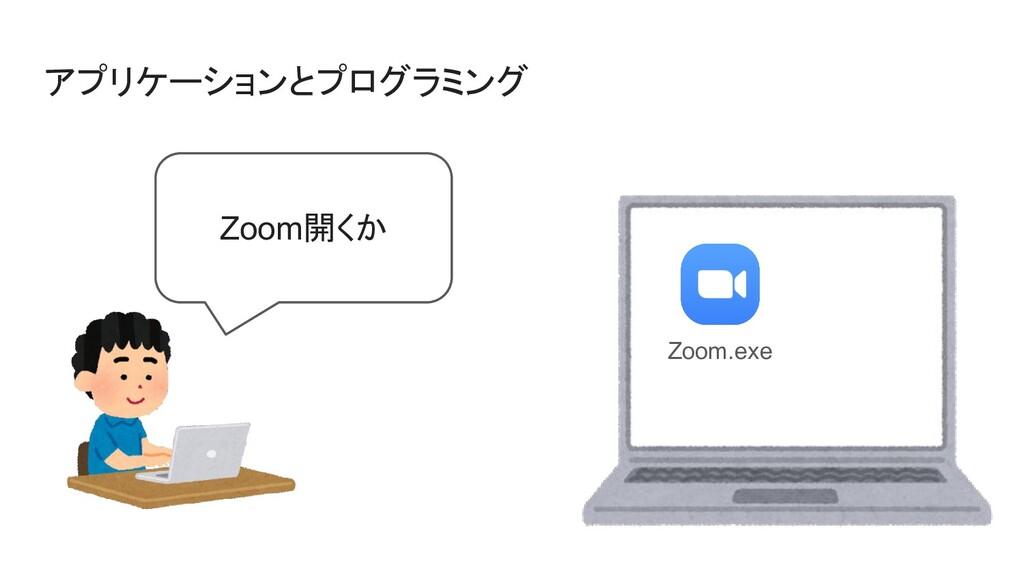 アプリケーションとプログラミング Zoom.exe Zoom開くか