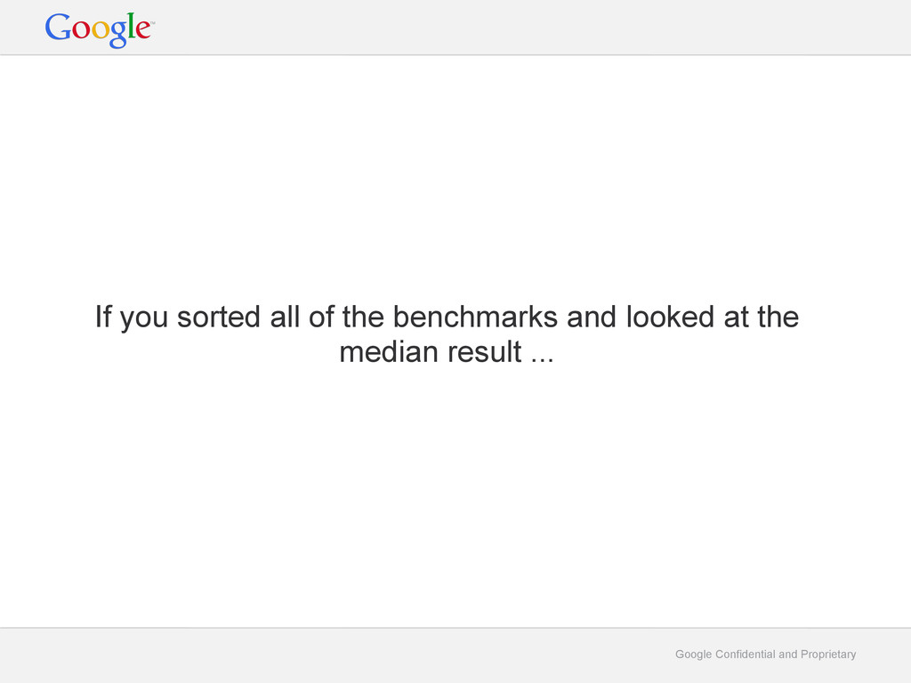 Google Confidential and Proprietary If you sort...