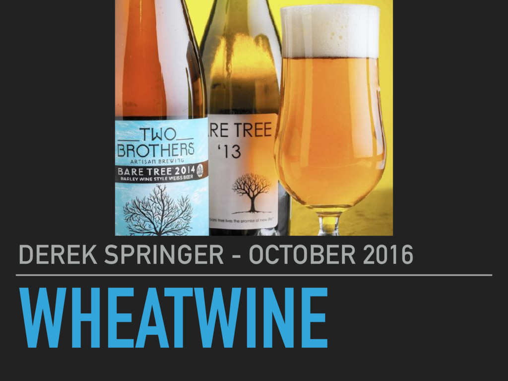 WHEATWINE DEREK SPRINGER - OCTOBER 2016
