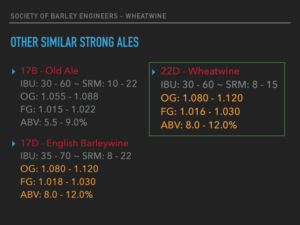 SOCIETY OF BARLEY ENGINEERS - WHEATWINE OTHER S...
