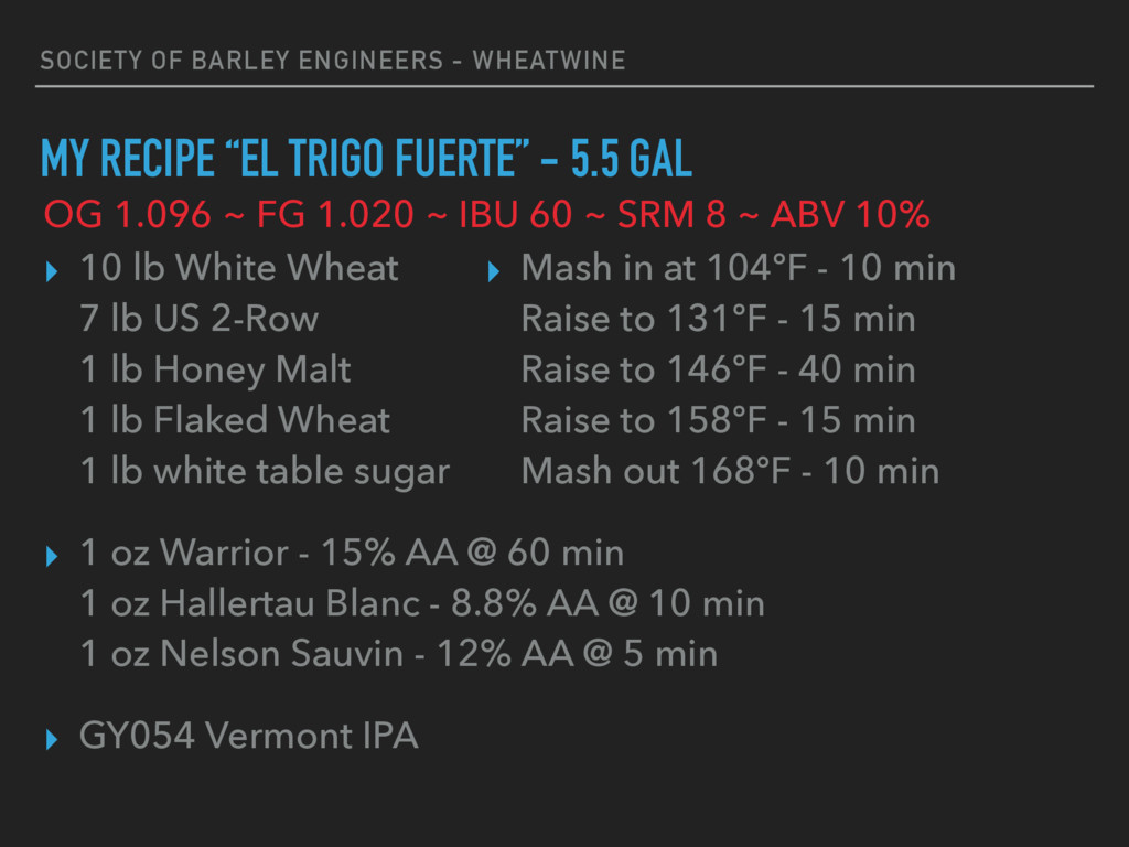 SOCIETY OF BARLEY ENGINEERS - WHEATWINE MY RECI...