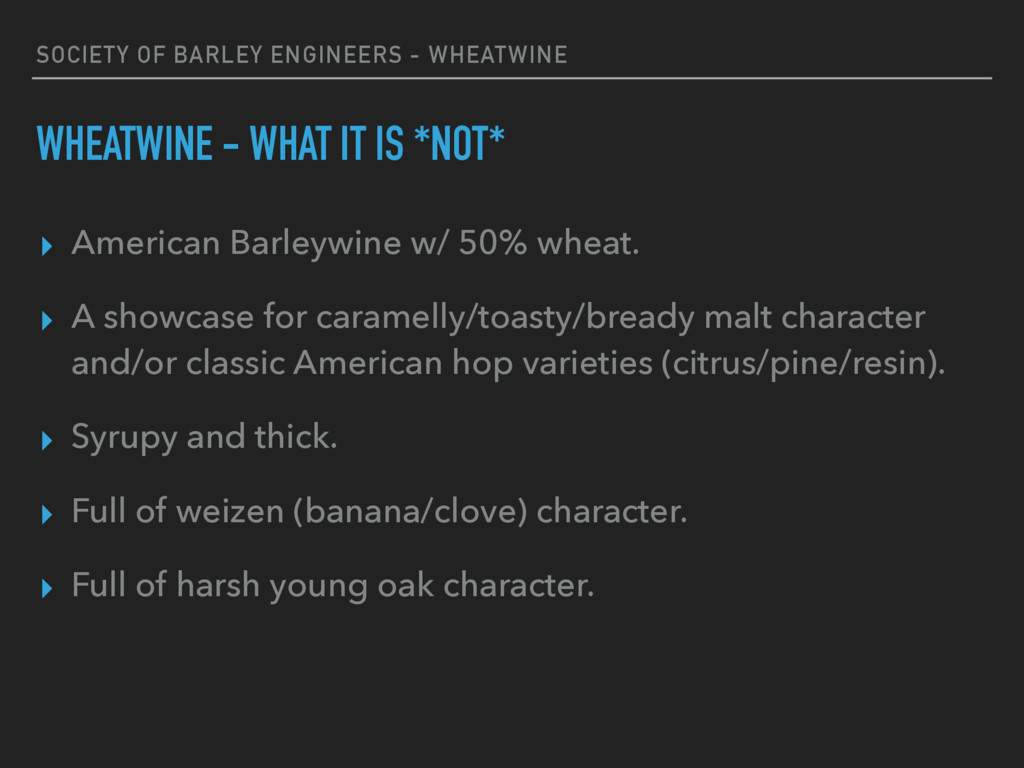 SOCIETY OF BARLEY ENGINEERS - WHEATWINE WHEATWI...