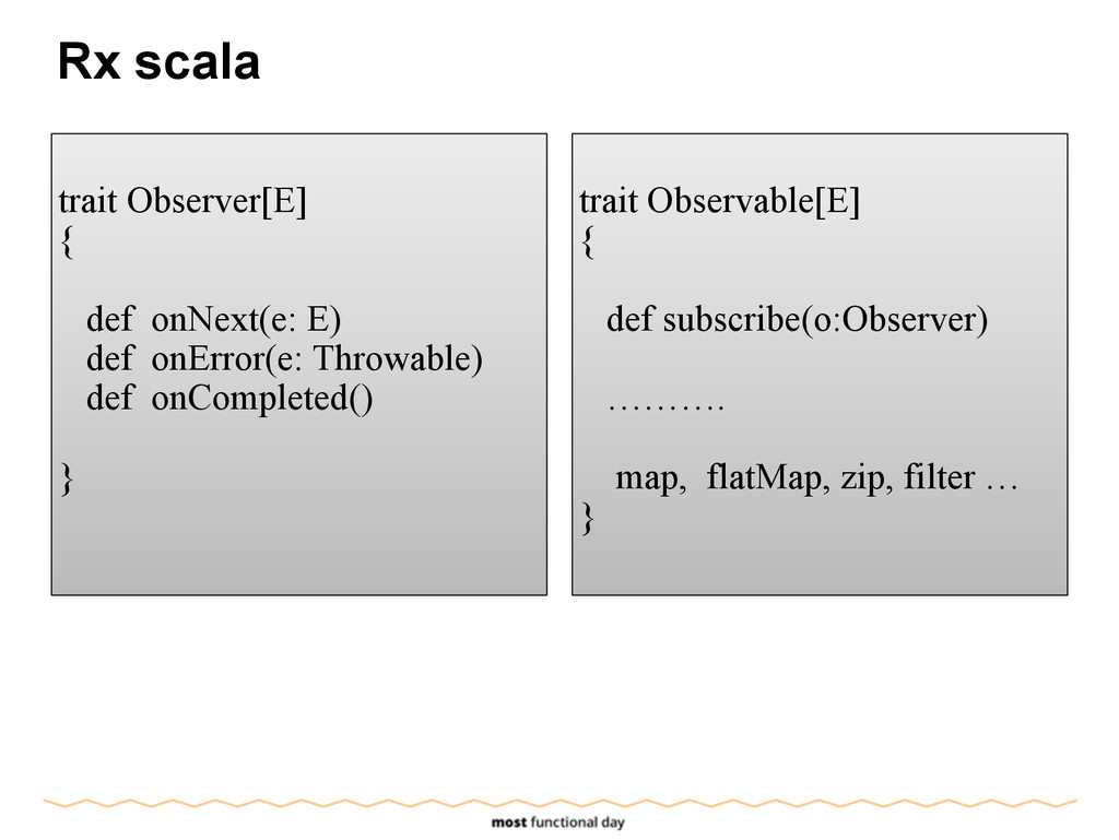 Rx scala ! trait Observer[E] { def onNext(e: E)...