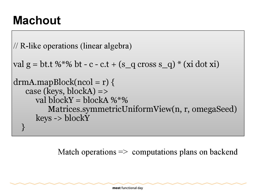 Machout ! // R-like operations (linear algebra)...