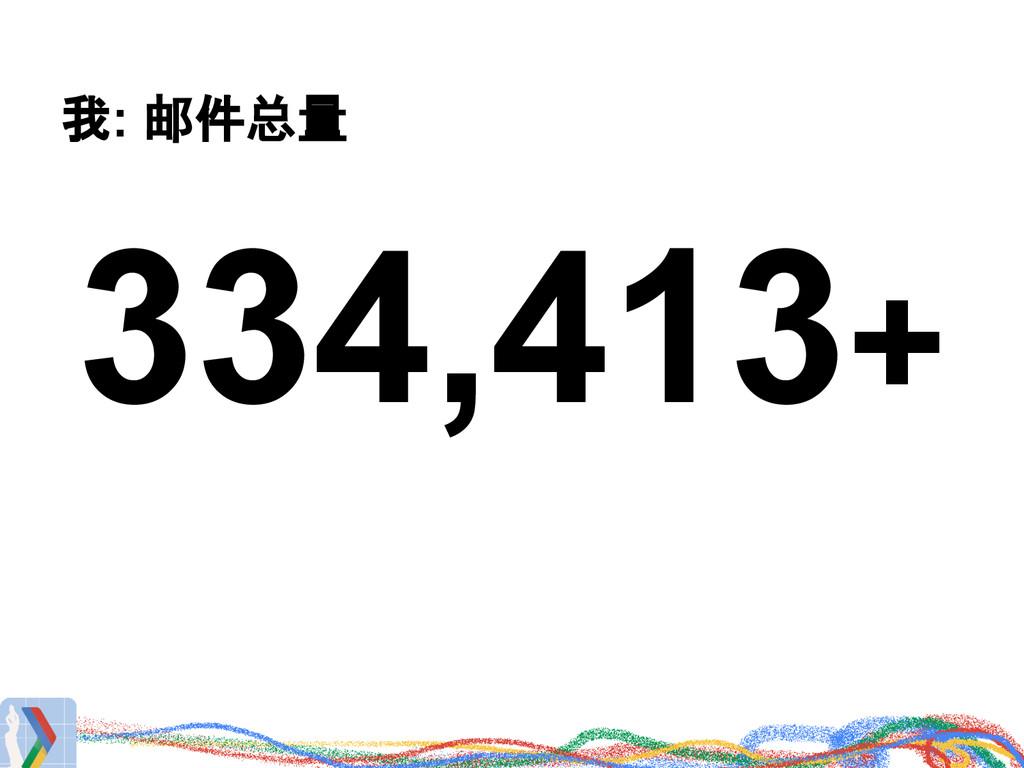 我: 邮件总量 334,413+