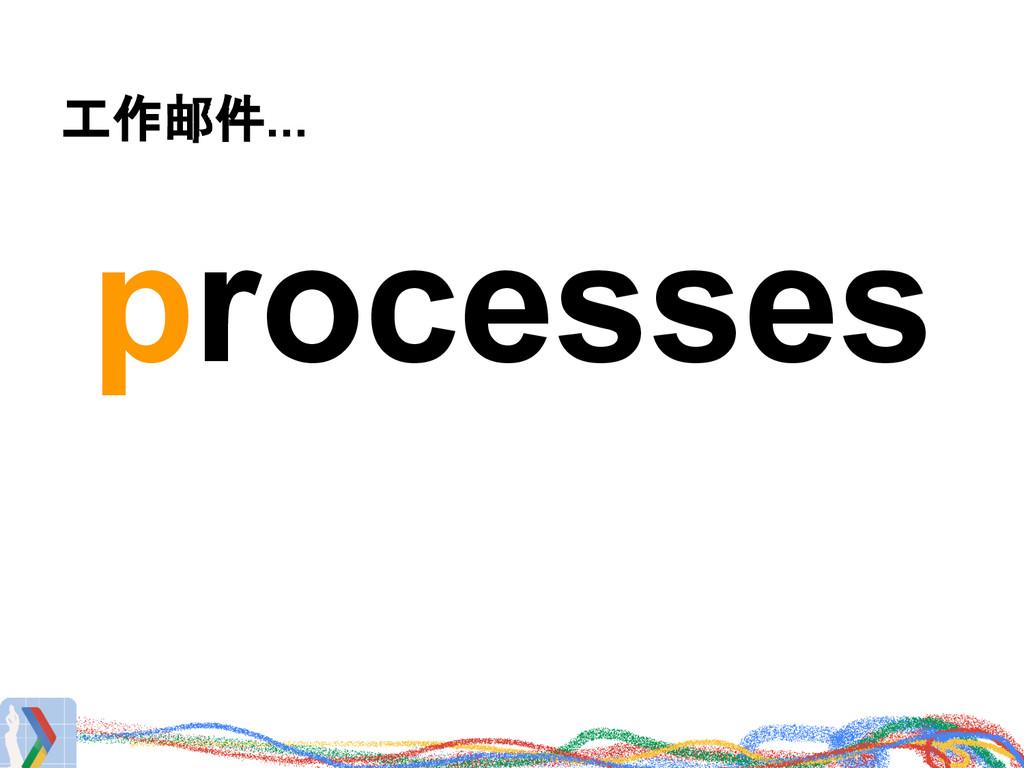 工作邮件... processes