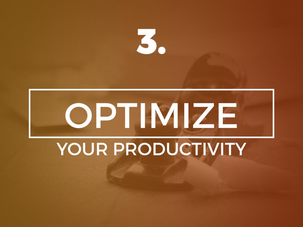 OPTIMIZE YOUR PRODUCTIVITY 3.
