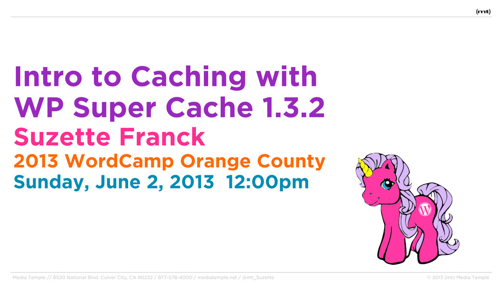 Intro to Caching with WP Super Cache 1.3.2 Suze...