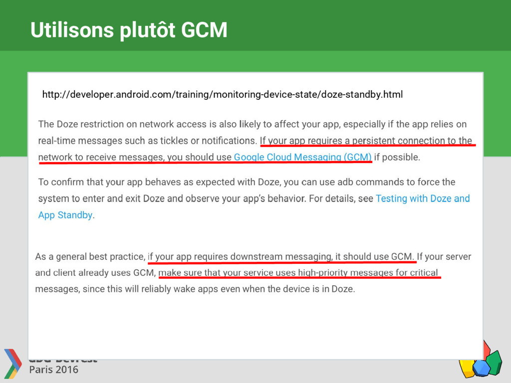 Utilisons plutôt GCM http://developer.android.c...