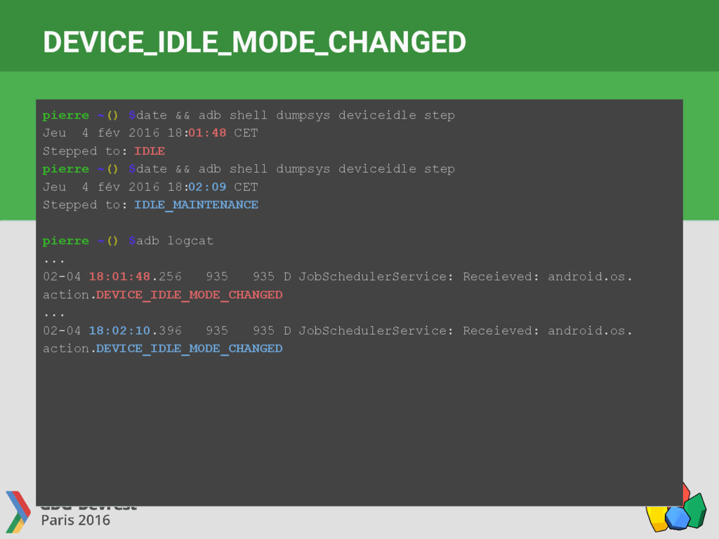 DEVICE_IDLE_MODE_CHANGED pierre ~() $date && ad...