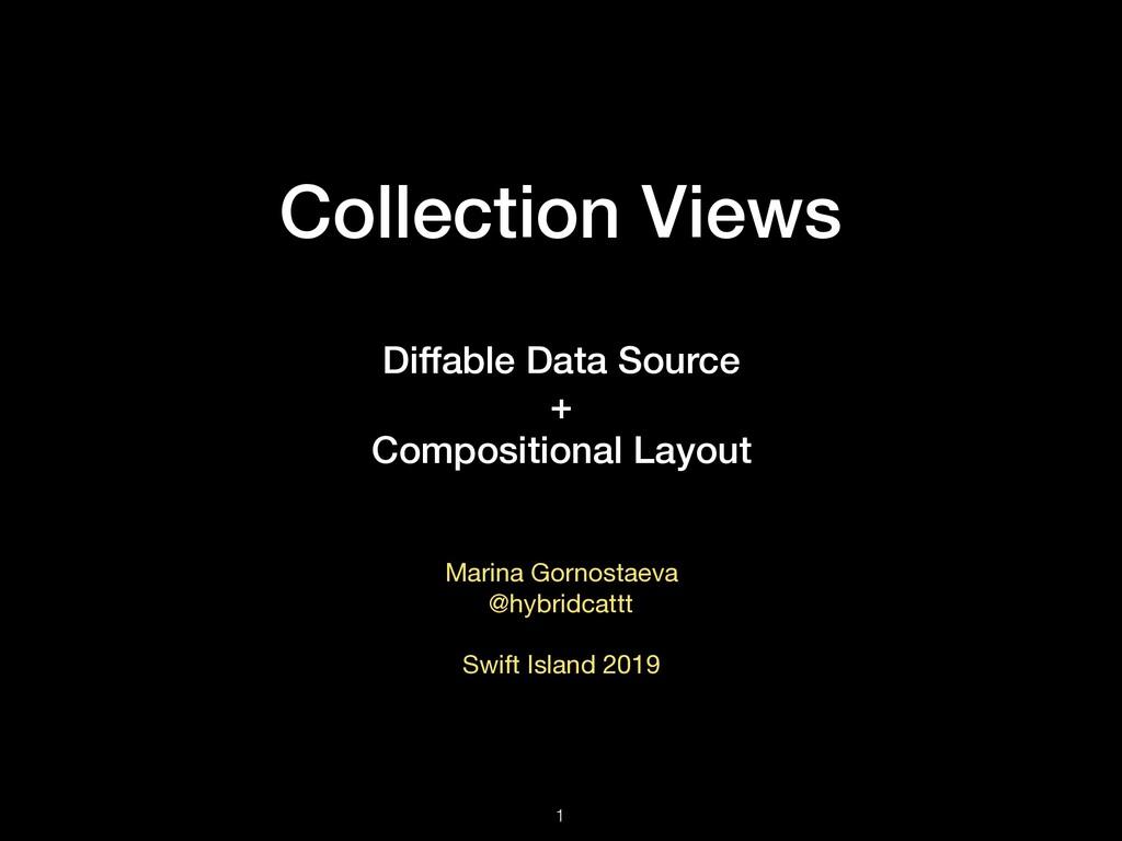 Collection Views Diffable Data Source + Composi...