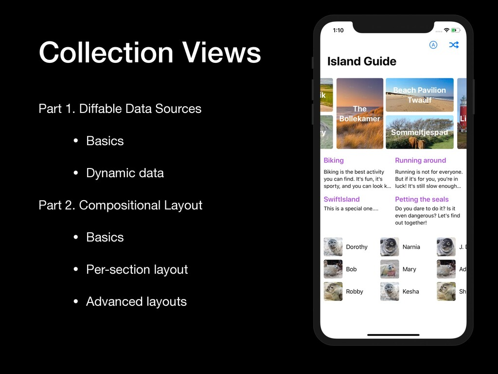 Collection Views Part 1. Diffable Data Sources  ...