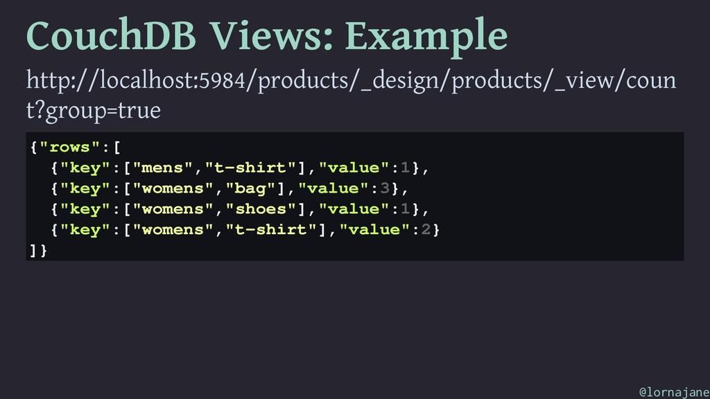 CouchDB Views: Example http://localhost:5984/pr...